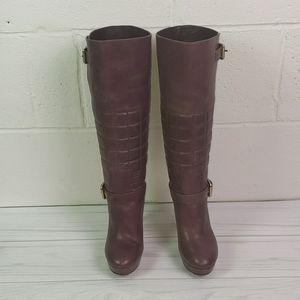 Rockport knee high boots platform